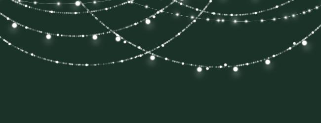 Sparkling String Lights Invitations In Black