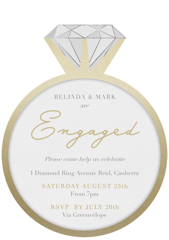 Engagement Party Invitations Greenvelope Com