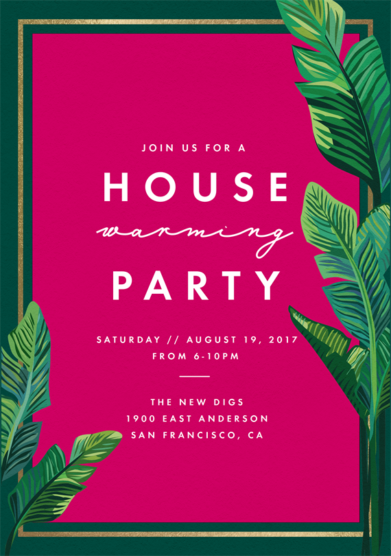 email online housewarming party invitations that wow greenvelopecom