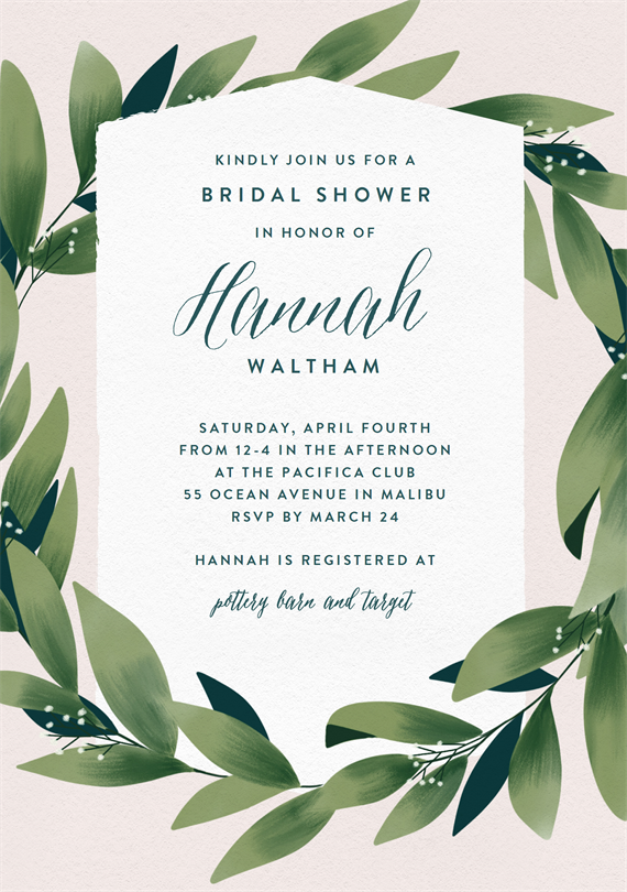 email online bridal shower invitations that wow greenvelopecom