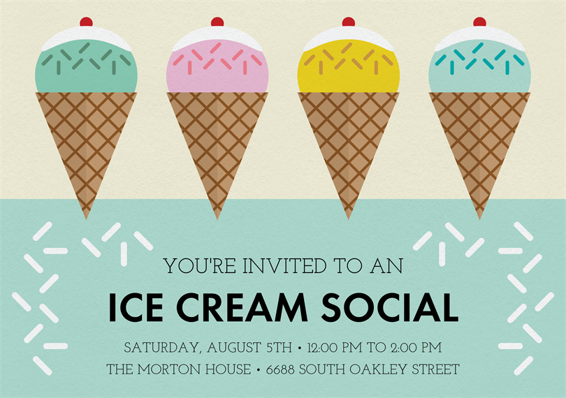 Ice Cream Social Invitations Greenvelope