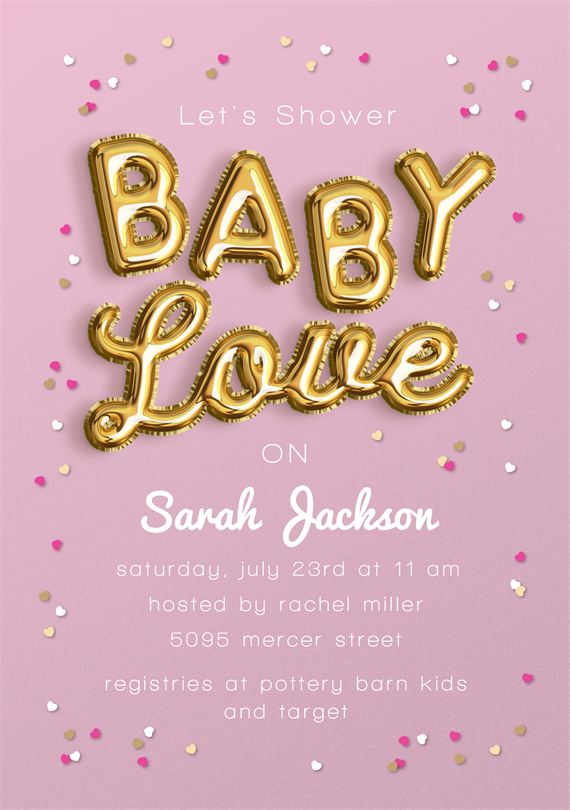 Email Online Baby Shower Invitations That Wow Greenvelope