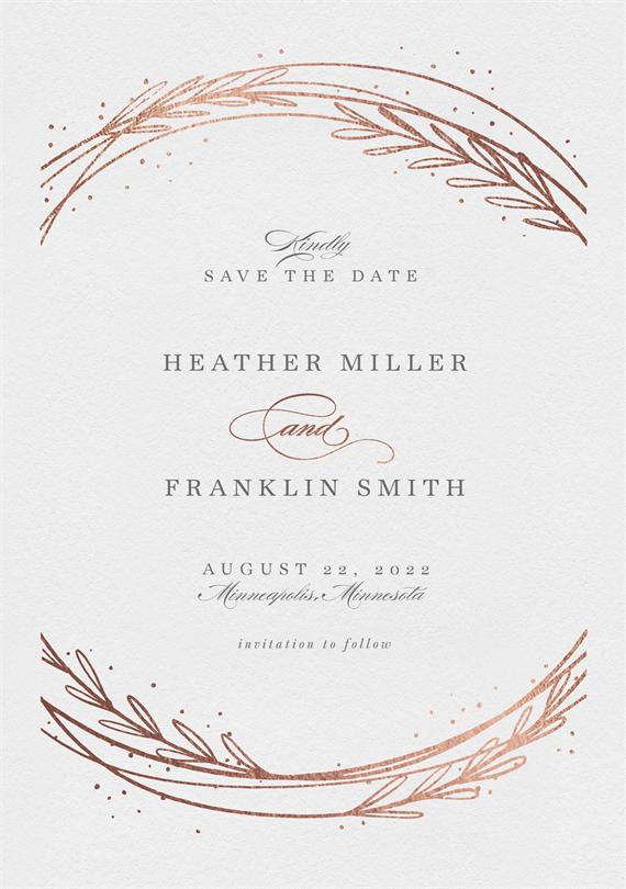 Email Online Wedding Invitations that WOW! | Greenvelope com