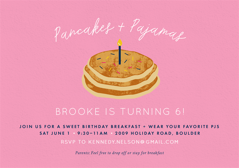 Thanks a Brunch Fill in the Blank Card Breakfast Birthday Pancakes and Pajamas PDF First Instant Download Thank You Card No Egg