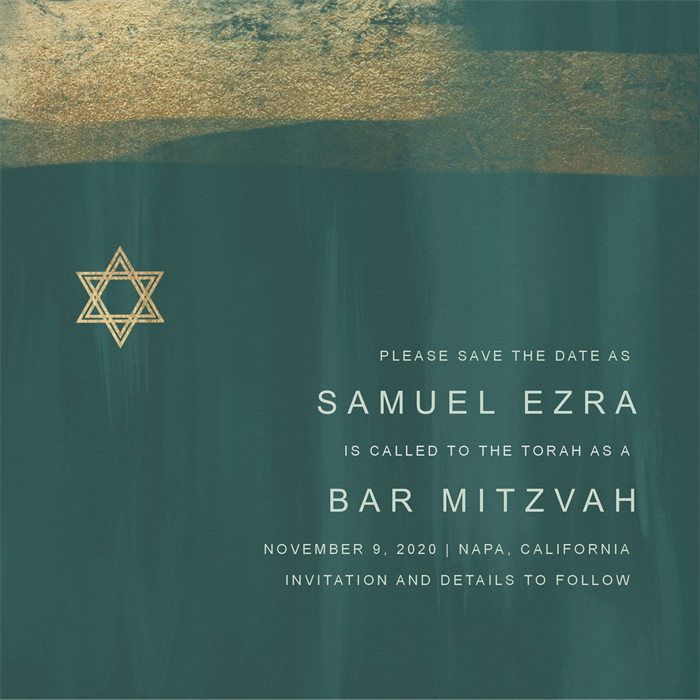 Email Online Bar Mitzvah Invitations That WOW