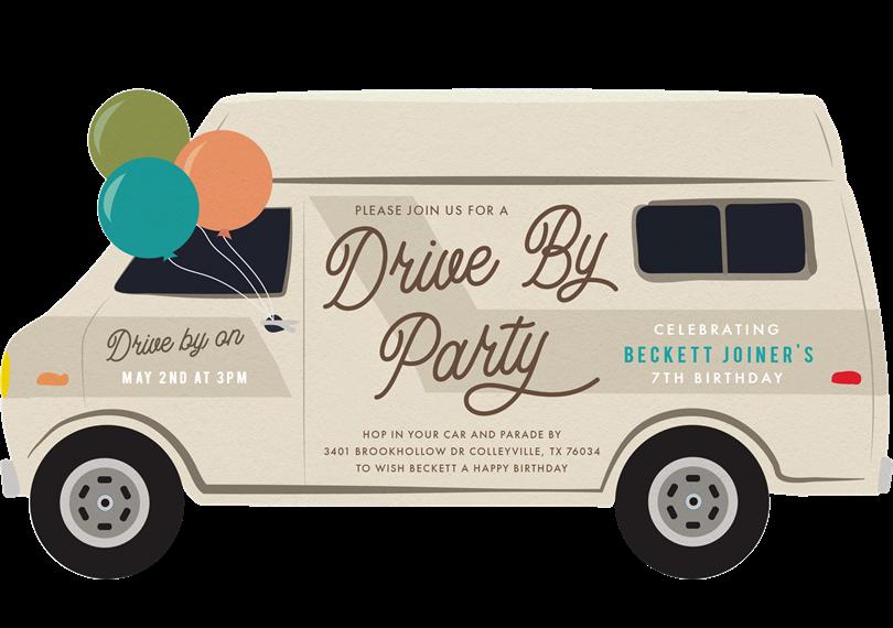 Drive By Parade Invitations Greenvelope Com