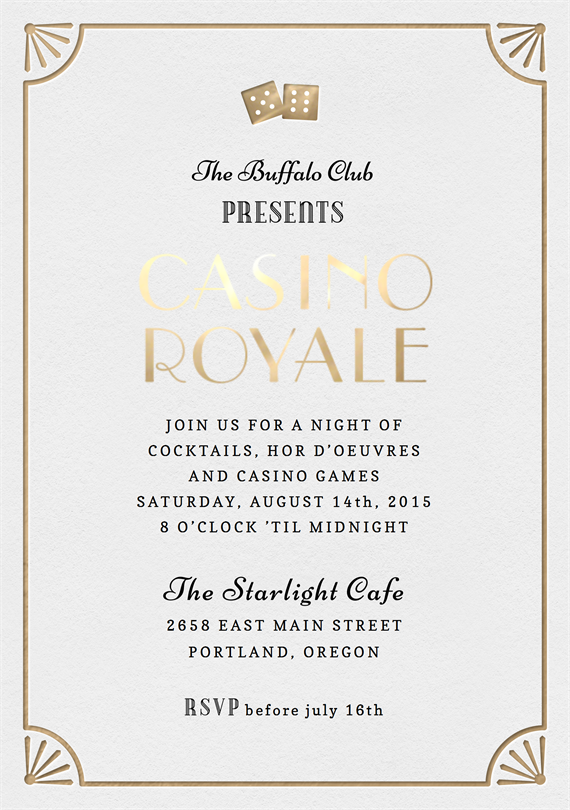 Casino royale invitations in black greenvelope stopboris Gallery