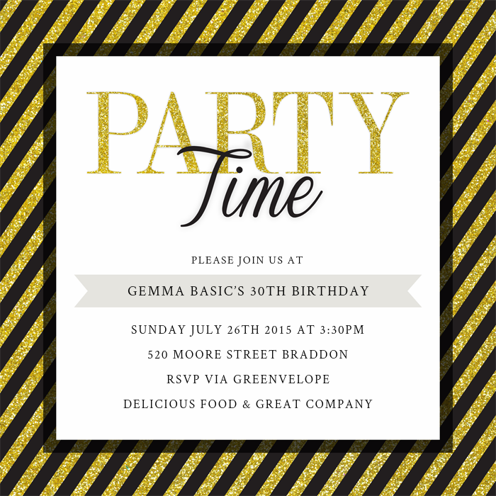 Party Time Invitations | Greenvelope.com