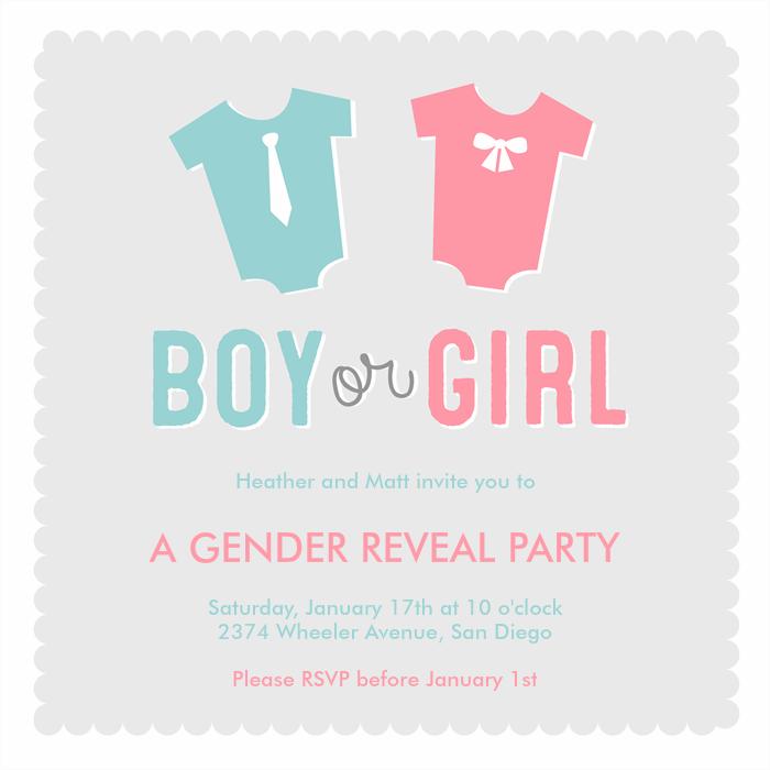 boy or girl invitations greenvelope com