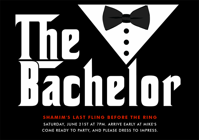 Email Online Bachelor Party Invitations that WOW – Stag Party Invitation
