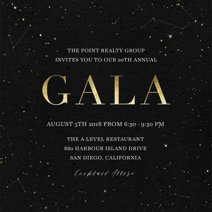 galaxy gala invitations greenvelope com