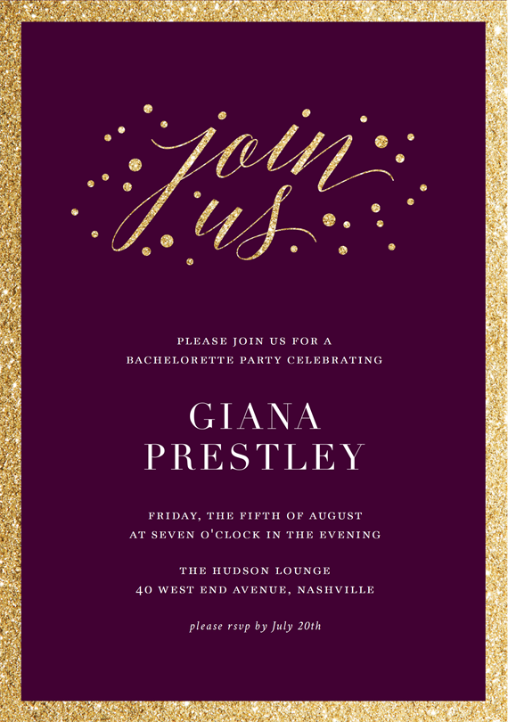 Email Online Bachelorette Party Invitations That WOW