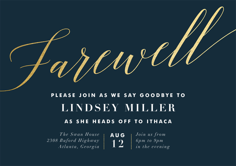 Farewell Invitations Templates Farewell Party Invitation Template – Farewell Invitations Templates