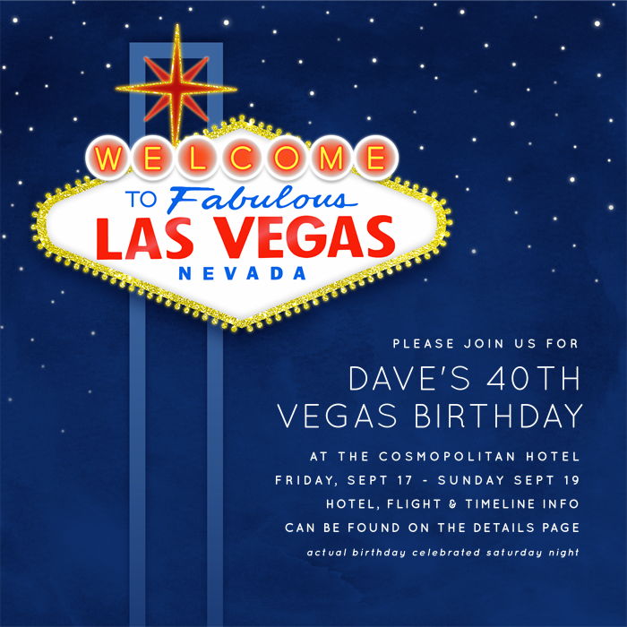 Fabulous Las Vegas Invitations | Greenvelope.com