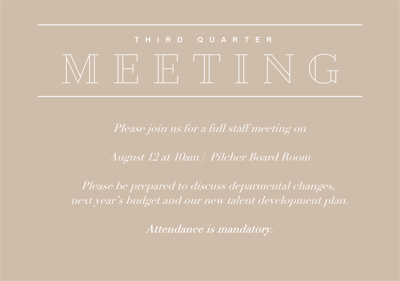 Simple meeting invitations greenvelope stopboris Gallery