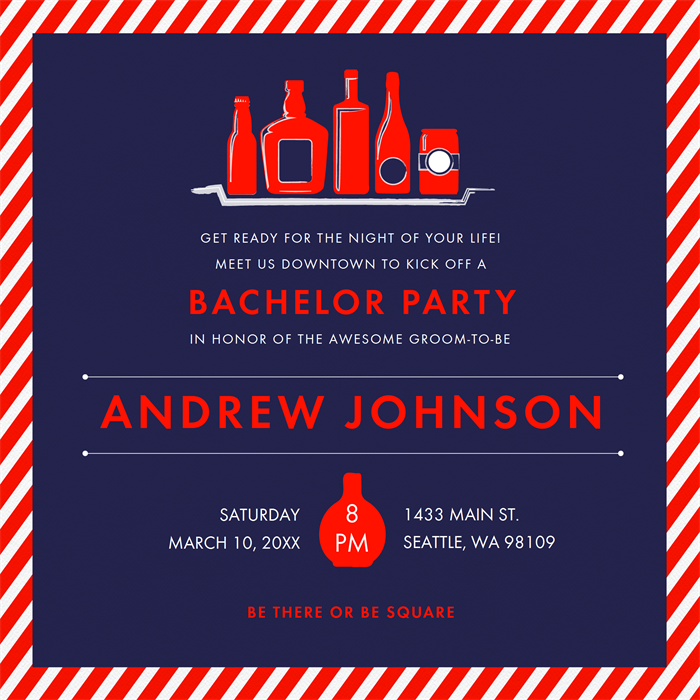 Email Online Bachelor Party Invitations That Wow Greenvelope Com