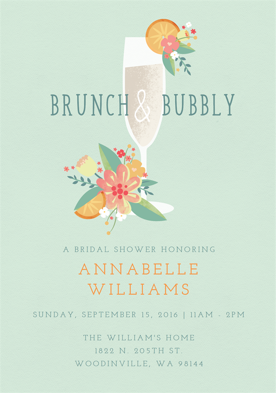 brunch and bubbly invitations greenvelope com