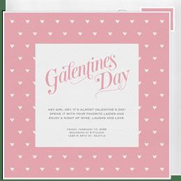 Dainty Galentine S Day Invitations Greenvelope Com