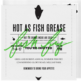 Fish Fry Invitations Greenvelope Com