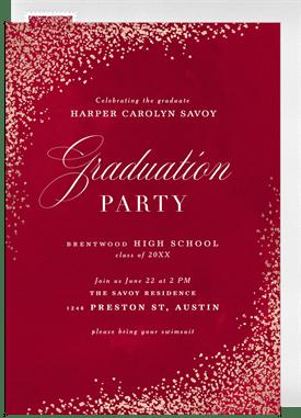 Luxe Confetti Invitation in Red