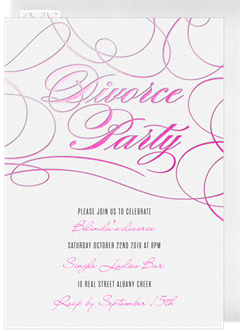 Divorce Party Invitations in White Greenvelopecom