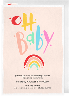 Baby shower invitations greenvelope baby rainbow invitation in pink filmwisefo