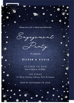 Denim And Diamonds Invitations Greenvelope Com