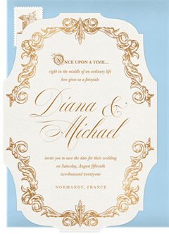 Once Upon A Time Invitations in Blue Greenvelopecom