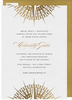 Email online business invitations that wow greenvelope compass rose invitation in white stopboris Gallery