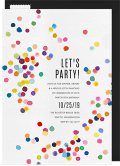 Confetti Burst Invitation In Red