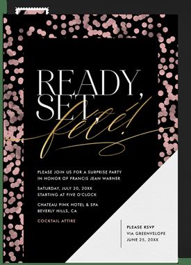 Ready, Set, Fété Invitation in Pink