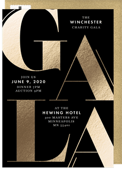 Oversized Gala Invitation In Black