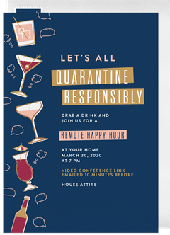 Quarantine Responsibly Invitations Greenvelope Com