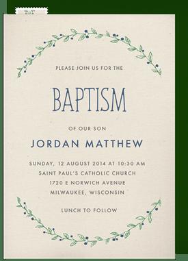 Baptism Christening Invitations Greenvelope Com