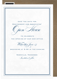 Business save the dates greenvelope marble toast save the date in blue stopboris Choice Image