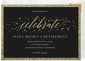 Business invitation designs greenvelope glitter border invitation in black cheaphphosting Image collections