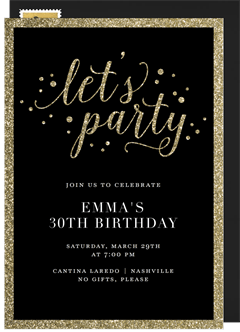 Birthday party invitations greenvelope join the party invitation in black stopboris Images