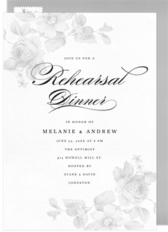 Rehearsal dinner invitation designs greenvelope rosey corners invitation in white pronofoot35fo Choice Image