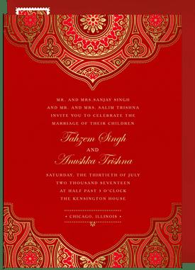 Indian Wedding Invitations Greenvelope Com