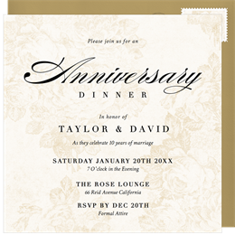 Email online anniversary invitations that wow greenvelope stopboris Image collections