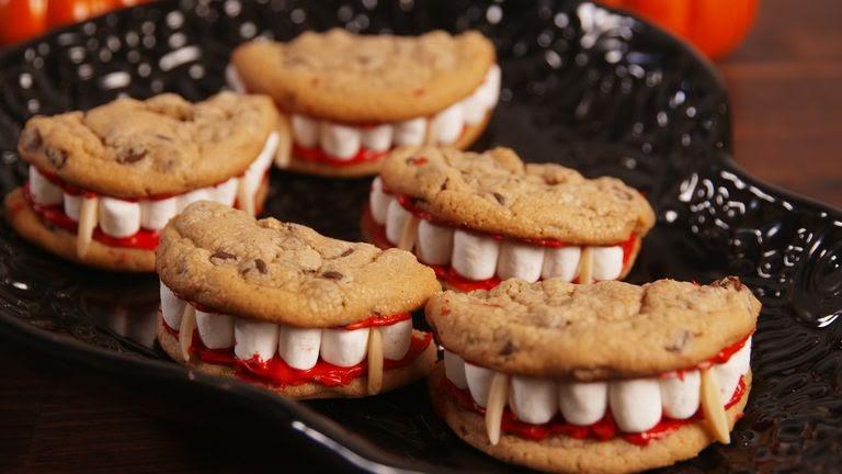 Halloween party food: Dracula dentures