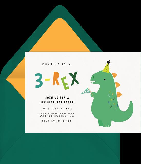 3-Rex Invitation