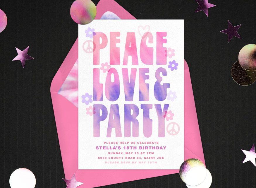 70s theme party invitation