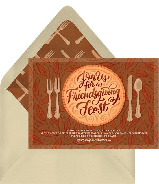 A Friendsgiving Feast Invitation