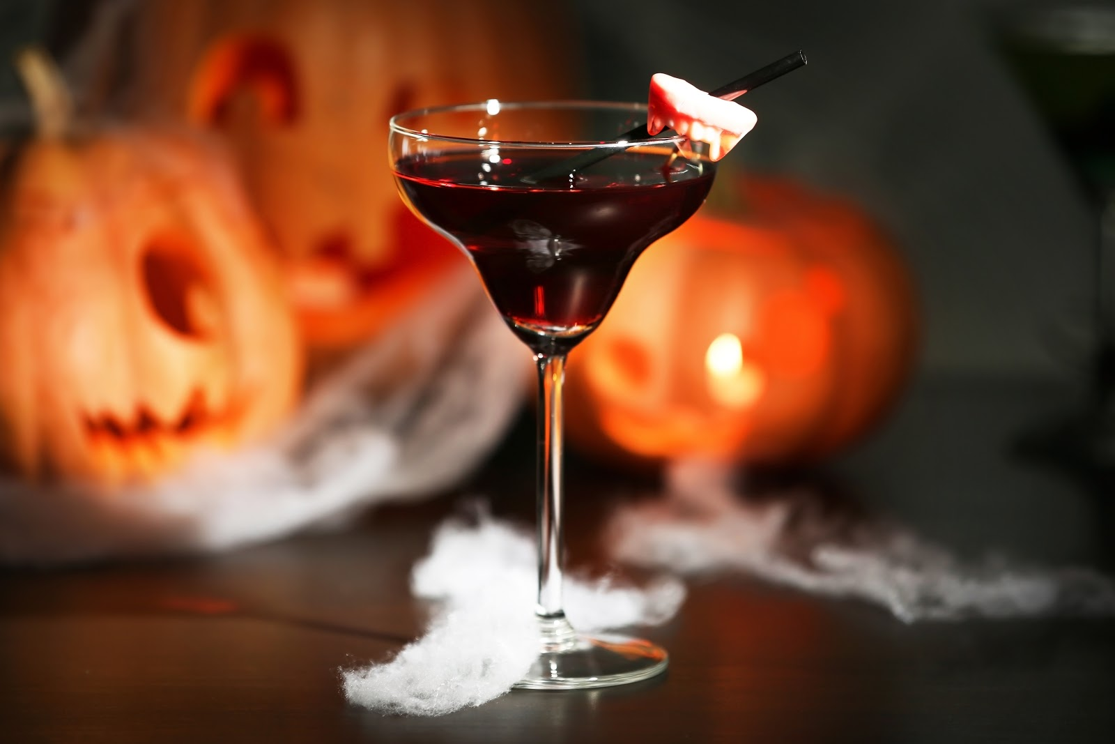This themed cocktail is one of many Halloween party ideas.