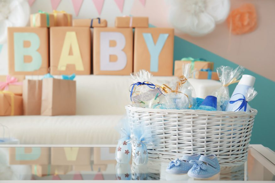 Baby shower ideas: A display of shower gifts