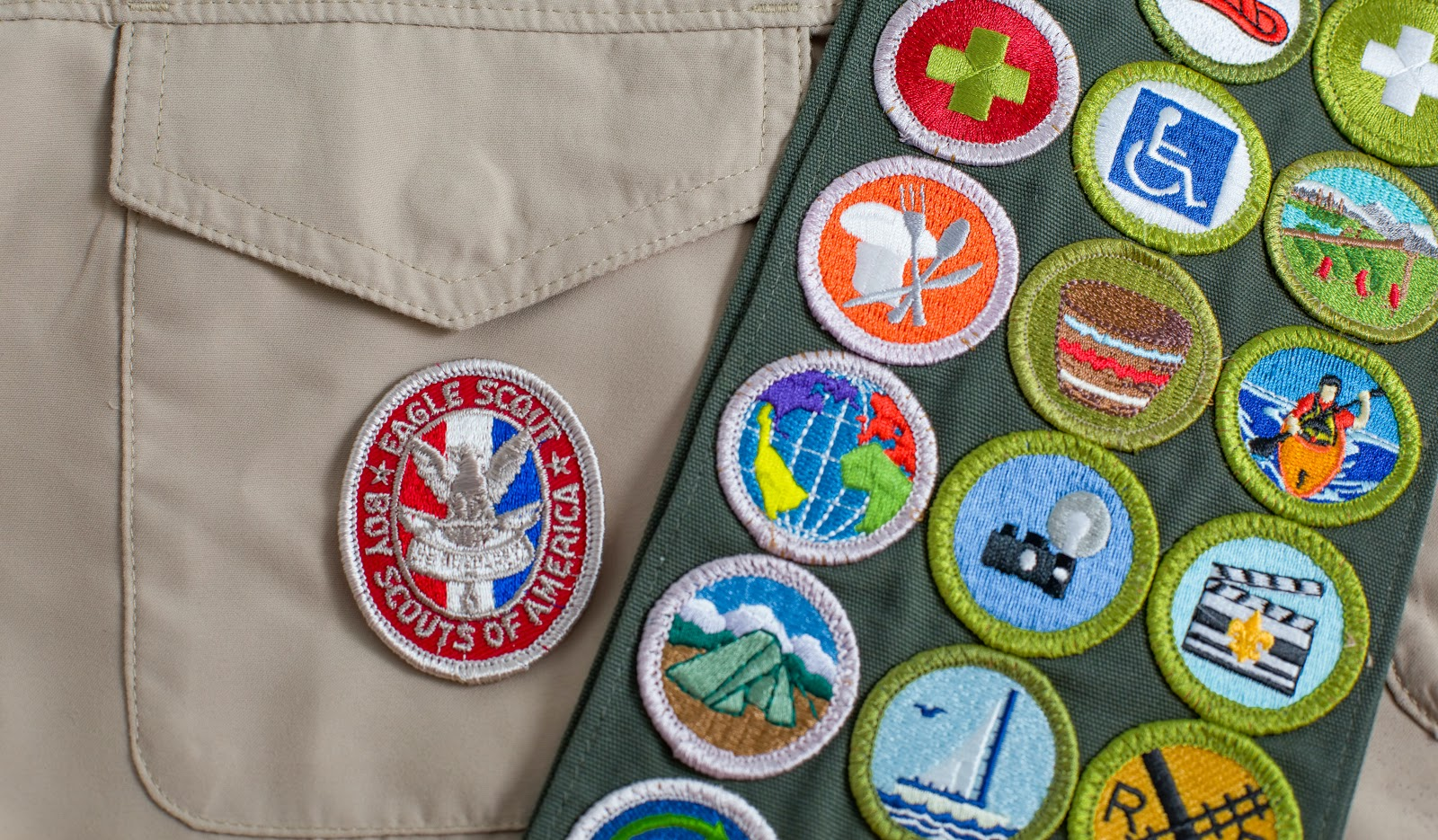 Eagle Scout Invitations: Uniform with badges