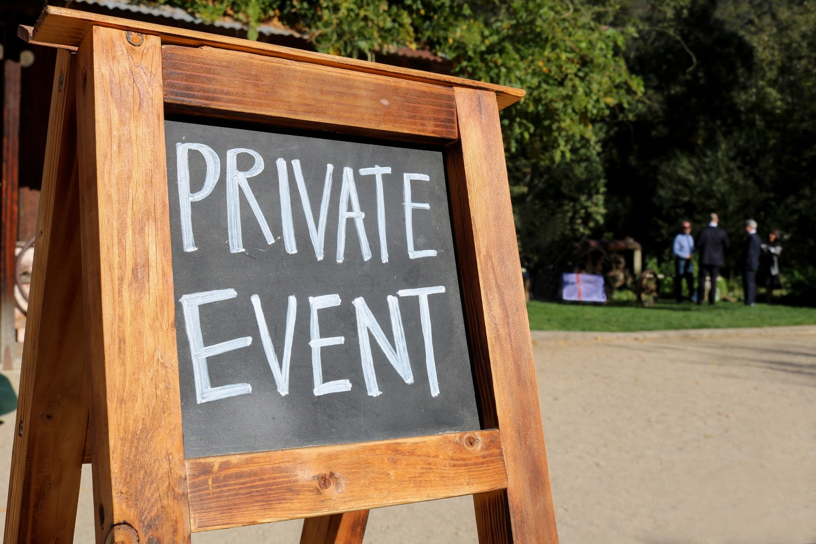 Private event signage at a groundbreaking ceremony