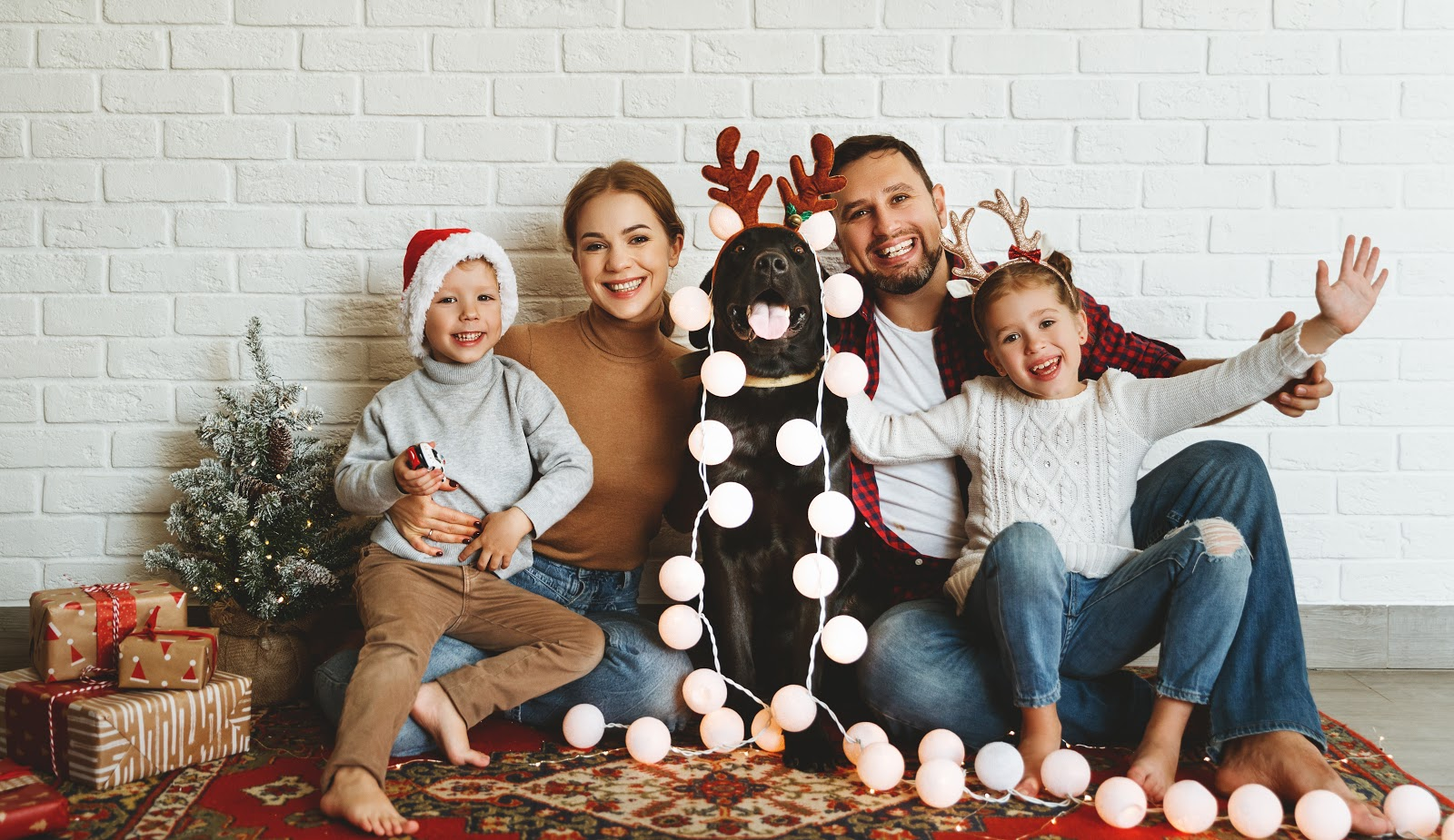 Wonderful Family with their dog