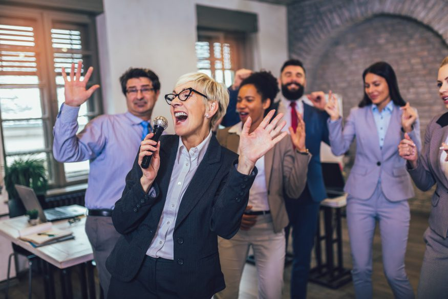 Corporate event ideas: An office karaoke party